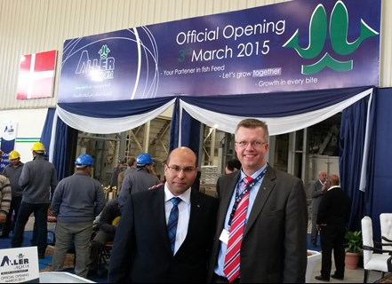 Aller Aqua Egypt - Hussien Mansour and Henrik Halken at the opening of the new factory