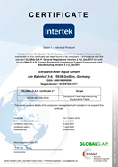 Emslan Aller Aqua - Germany - Global G.A.P. Certificate