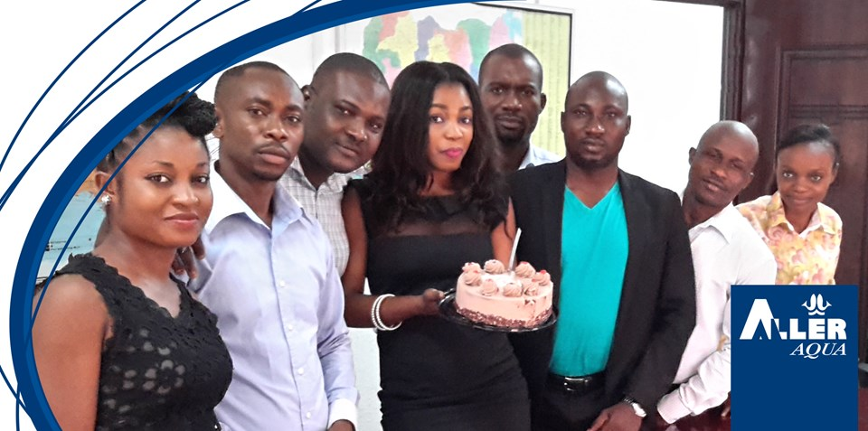 The Aller Aqua Nigeria team